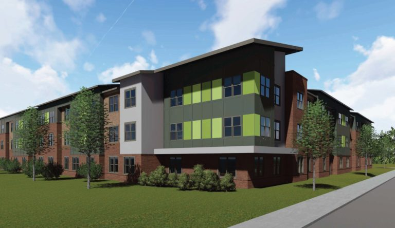 Mauldin Center Apartments rendering